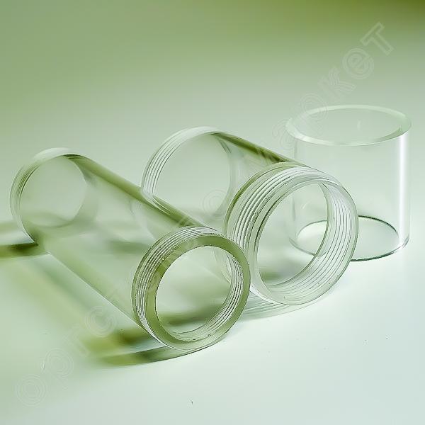 прозрачные трубы из оргстекла с резьбой